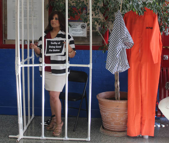 Junior English teacher Ms. Barragan stands incarcerated as she asks ...